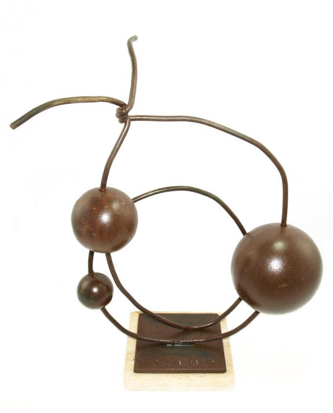 Escultura Espacio en forja. Esculturas de forja de Nono Martín, escultor de Alcaudete de la Jara en Toledo.