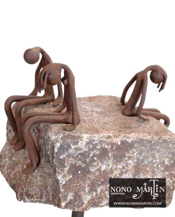 Infidelidad, escultura en forja. Esculturas de forja de Nono Martín, escultor de Alcaudete de la Jara en Toledo.