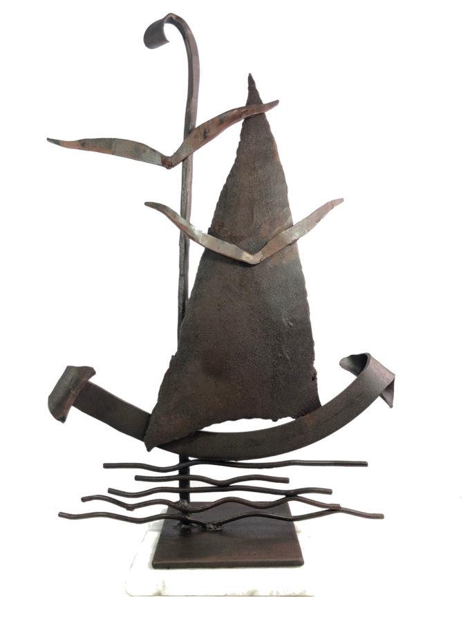 Escultura Marina II en forja. Esculturas de forja de Nono Martín, escultor de Alcaudete de la Jara en Toledo.