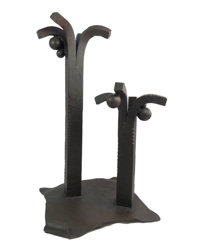 Escultura de forja Palmeral del escultor Nono Martín