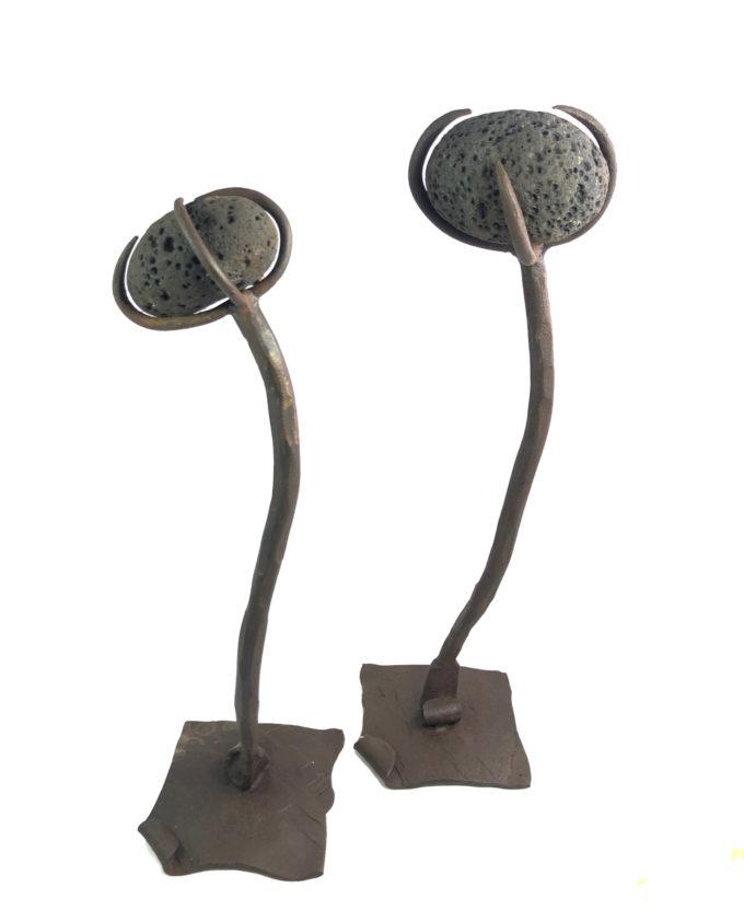 Escultura de forja Sísifo Pareja del escultor Nono Martín